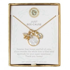 Spartina Just Bee Cause Charm Necklace